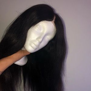 closure black wig for sale